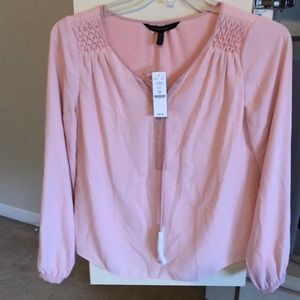 Pretty & Pink WhiteHouse/ BlackMarket Blouse
